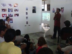 Workshop IBB/Lydia Schouten, basic principle: by using artistic strategy trying to give a view on every day life on Curacao,